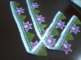 Yeni iğne oyası havlu kenarı