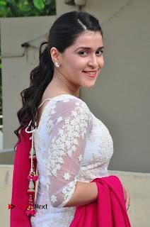 Mannara Chopra Latest Pictures in White Salwar Kameez at Thikka Movie Interview ~ Celebs Next