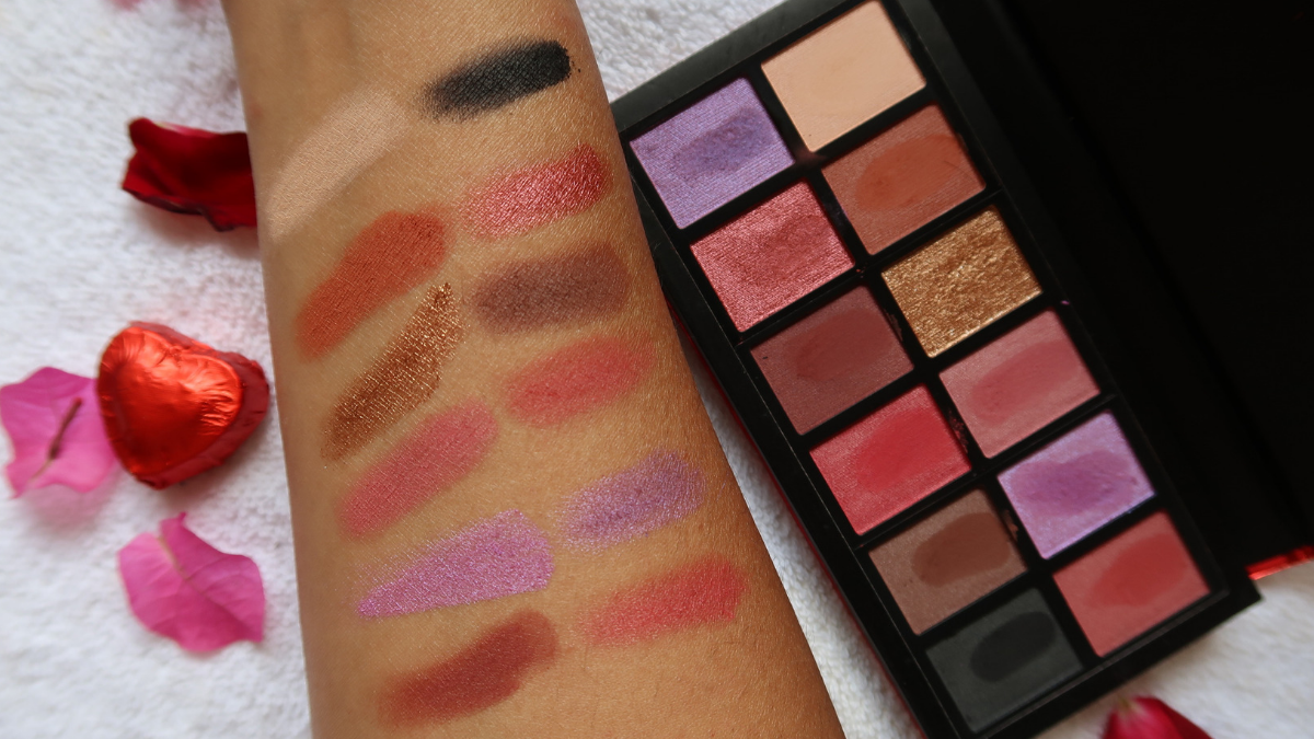 Makeup Revolution I Heart Revolution – Dragon's Heart Eyeshadow Review India swatches