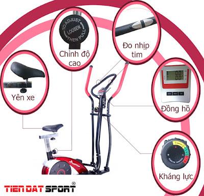 Sự hiện đại trong thiết kế của xe đạp tập thể dục.