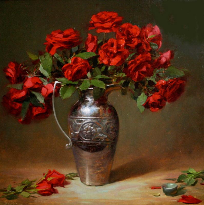 pintura de flores en jarrones lindos jarrones con flores en cuadros al leo pinturas de flores y jarrones
