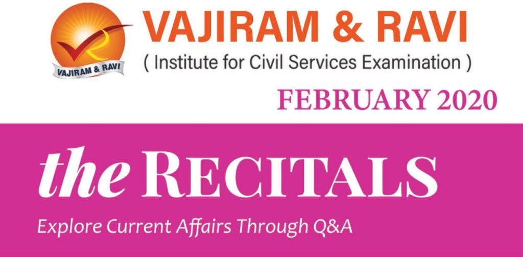 Vajiram Current Affairs February 2020