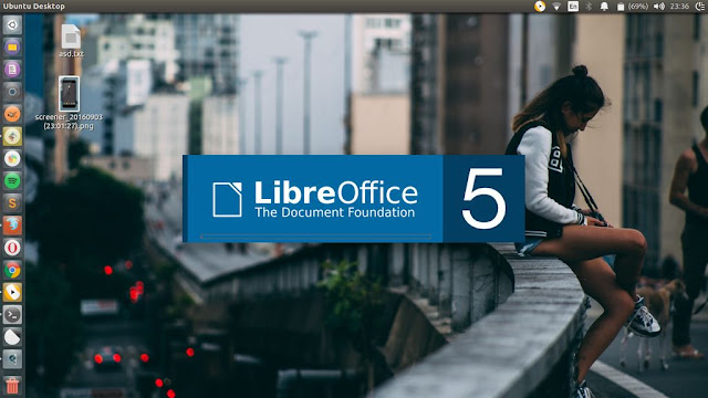 LibreOffice Splash Screen Blue Based Color