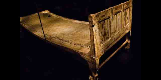 King Tut's bed