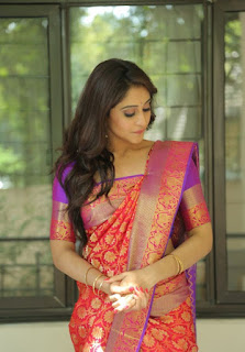 Regina Cassandra beautiful latest saree stills
