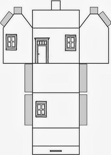 Educar X Molde De Casas De Papel Para Montar