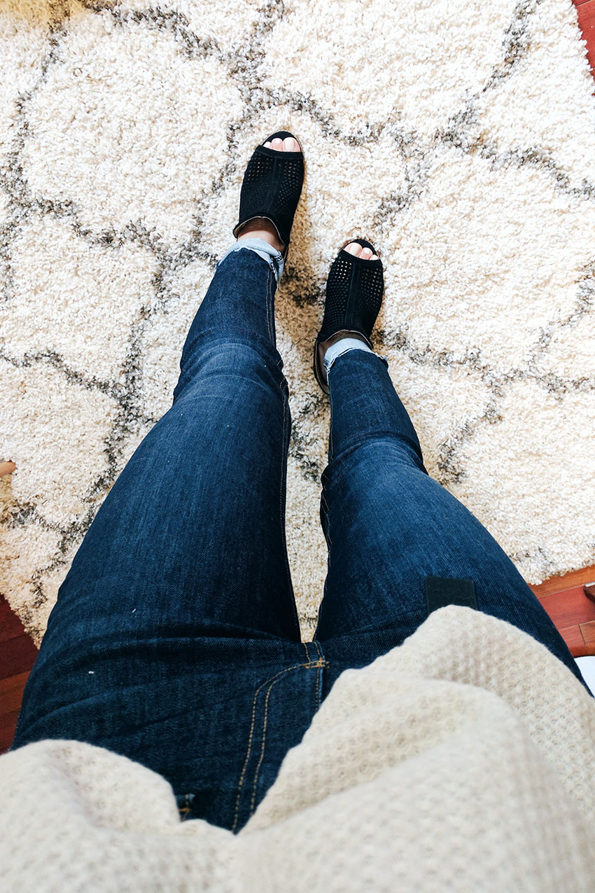 Rag & bone high waist skinny jeans, lucky brand larise booties, nordstrom anniversary sale 2017 what I bought