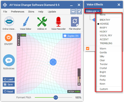 Make-ups Voice Changer Software Diamond 9.5