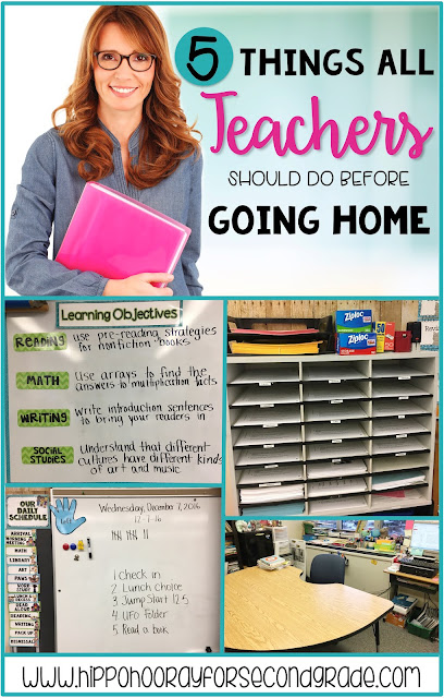 One of the worst feelings as a teacher is that feeling of being unprepared. Check out this list of 5 things you can do before you go home each night, so that you can be more prepared when you start the next day.