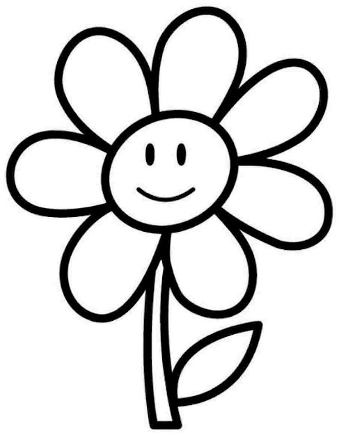 Flower Coloring Page With Pages For Kindergarten