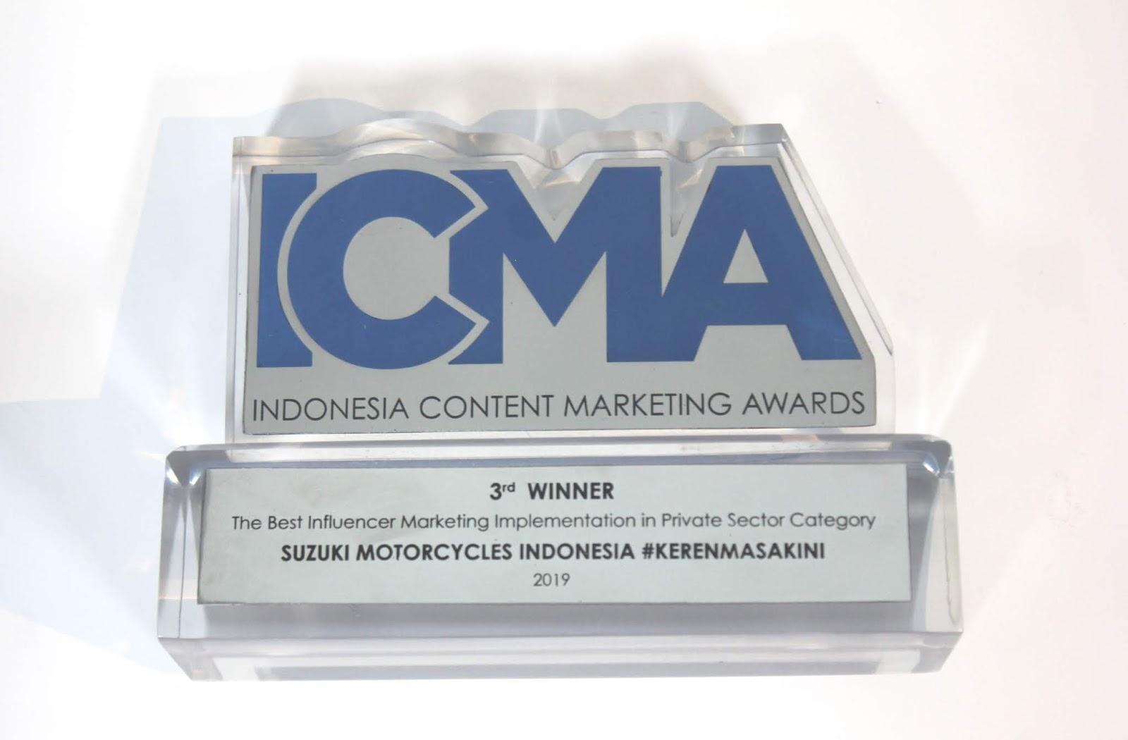 Suzuki Raih Penghargaan Indonesia Content Marketing Award 2019