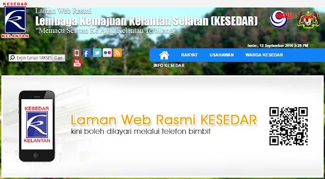 Rasmi - Jawatan Kosong (KESEDAR) Lembaga Kemajuan Kelantan Selatan Terkini 2019
