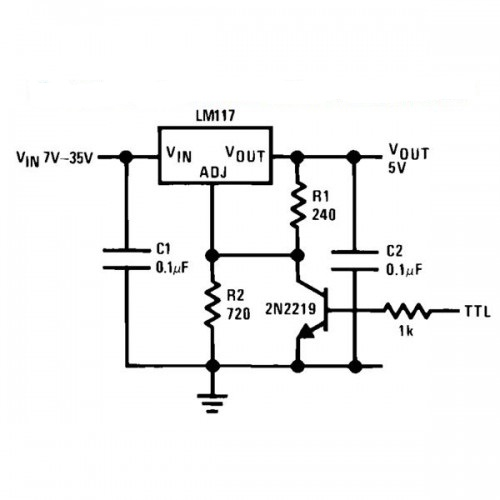 Voltage Regulator with Shutdown Digital Circuit Diagram