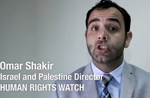 """Anti-Israel bias at Human Rights Watch (Part 1: Omar Shakir)"""