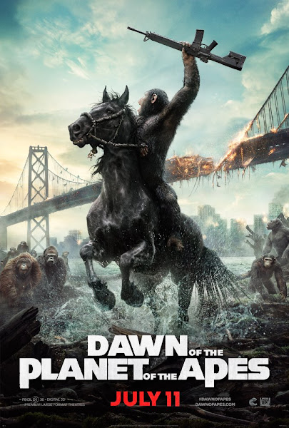 Poster of Dawn of the Planet of the Apes 2014 Dual Audio 720p BluRay ESubs Download