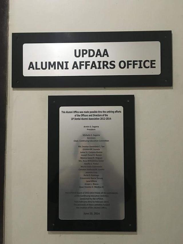 UPDAA NEWS: The UPCD Alumni Office