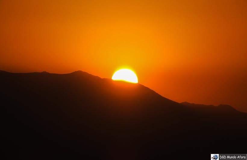 Pôr do Sol visto do alto do Sky Costanera  - o que fazer em Santiago