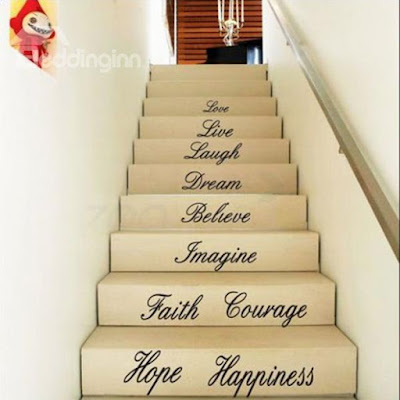Letters Staircase Wall Sticker