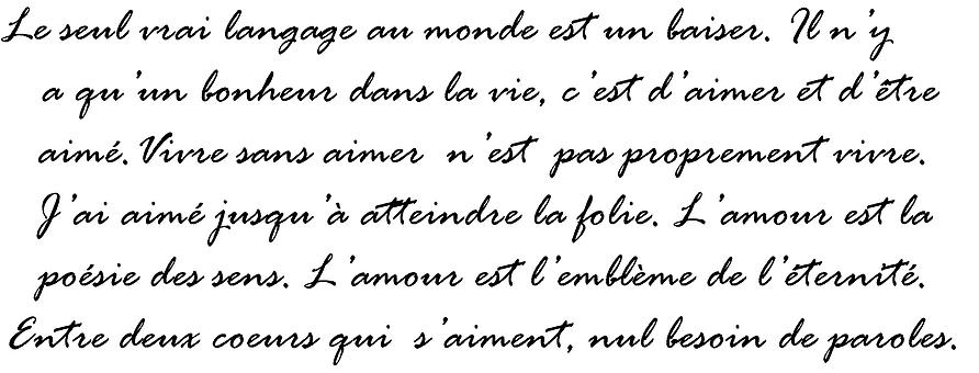 French script writing College paper Example - akmcleaningservices