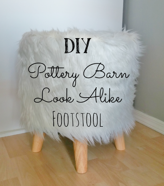 How to make a Pottery Barn knock-off footstool