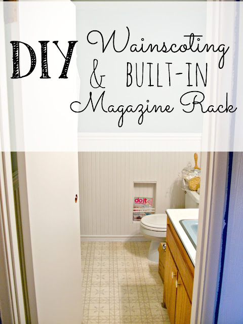 Beadboard Wainscoting in the bathroom
