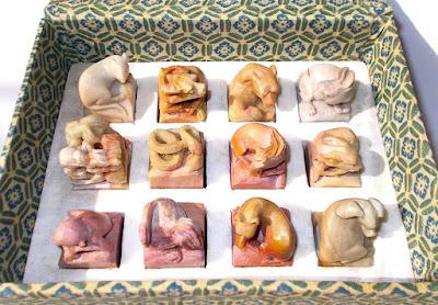 Zodiaco cinese in pietra saponaria - sculture - artigianato - annunci