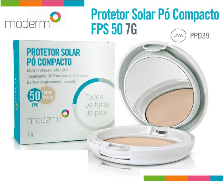 Resultado de imagem para protetor solar pó compacto moderm fps 50