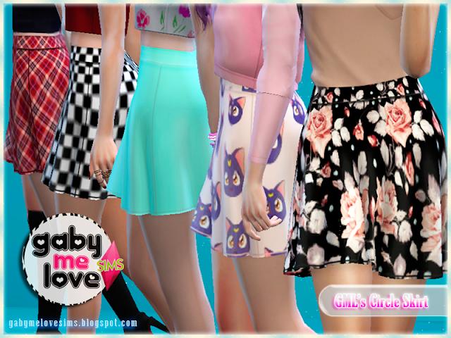GML's Circle Skirt, Sims 4 - Gabymelove Sims
