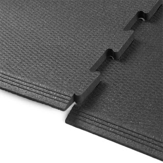 Greatmats rubber interlocking 3x3 tile revulcanized rubber