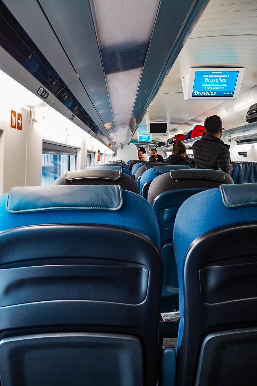 Eurostar standard class carriage
