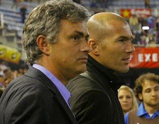 Mourinho and Zidane at Mestalla Stadium