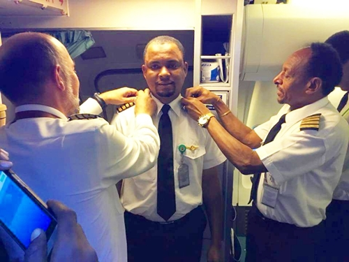 From Cleaner To Captain: Man Achieves Of His Dream Of Becoming A Pilot (Photos)