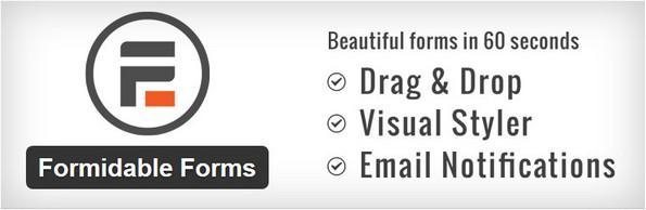 Formidable Forms custom form plugin for WordPress