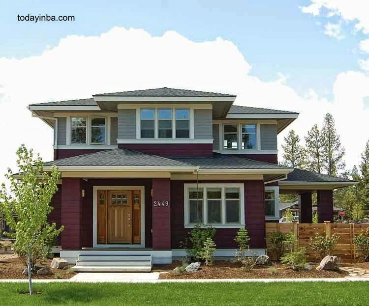 Moderna casa americana estilo Foursquare
