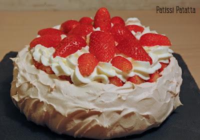 meringue, pavlova, fraises, chantilly, dessert d'été