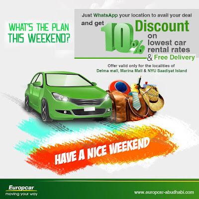 Europcar Abu Dhabi Exclusive Discount Up To 10 On Lowest Car