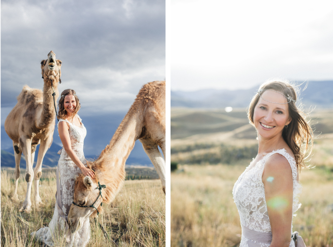 Montana Bride / Photography: Kacie Q. Photography / Hair + Makeup: Emily Toppers / Styling + Flowers: Katalin Green / Dress: Essence of Australia via Plume Bridal / Headpiece: Paris by Debra Mooreland