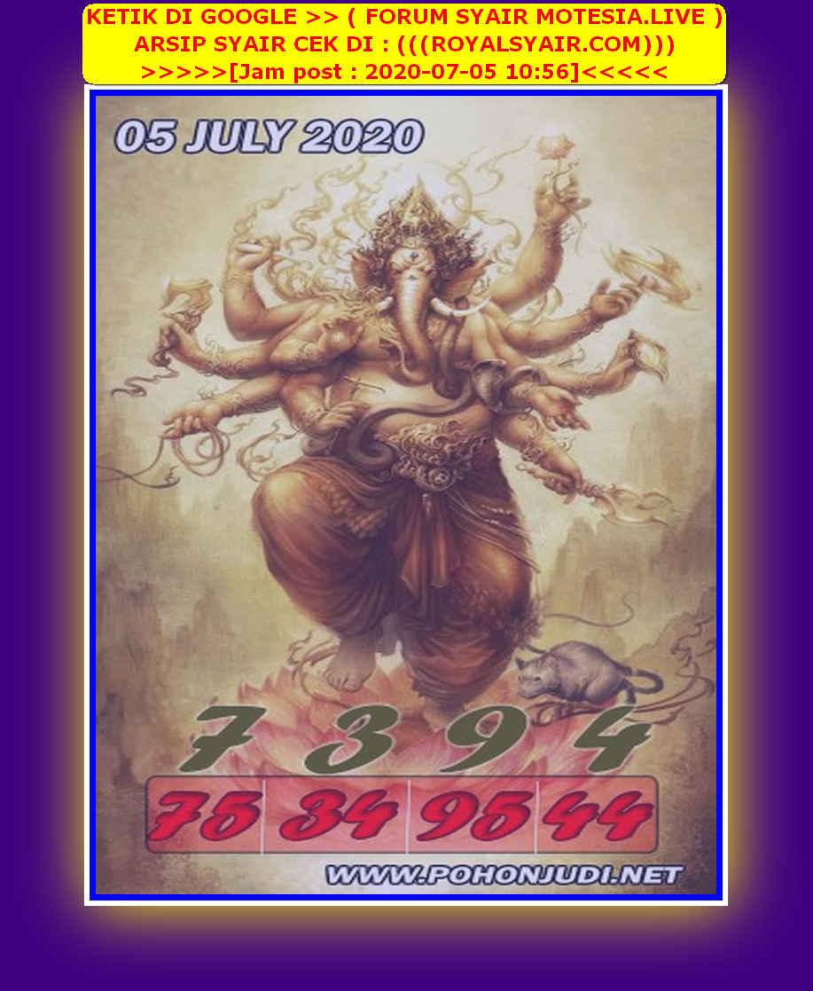 Kode syair Singapore Minggu 5 Juli 2020 156