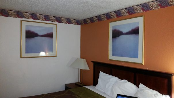 30 Hilarious Hotel Failures That Will Make Your Day - My Hotel Likes This Painting So Much They Gave Me Two Of Them