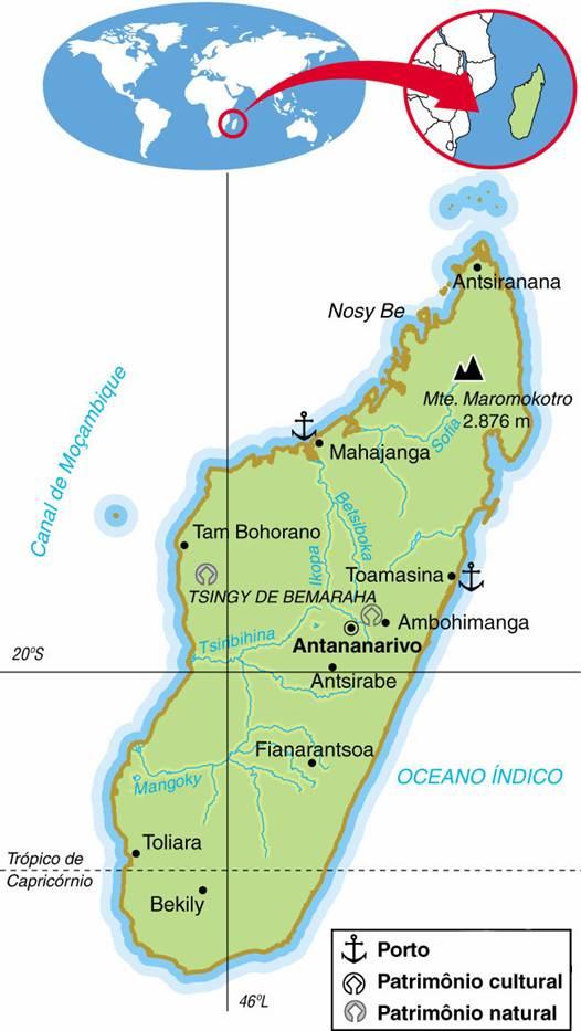 MADAGASCAR, ASPECTOS GEOGRÁFICOS E SOCIOECONÔMICOS DE MADAGASCAR