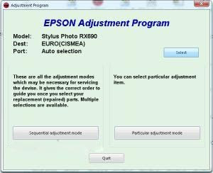 How to Reset Waste Ink Counter Pad Printer Epson RX690 using Epson Adjustment Program