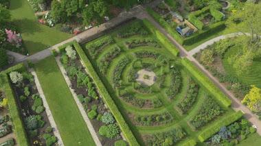 Los jardines de RHS Wisley desde el aire