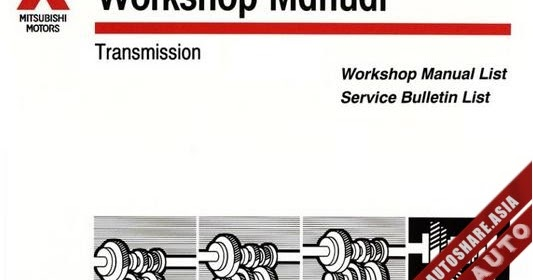 Mitsubishi Ebook Soft   Workshop Manual  Mitsubishi