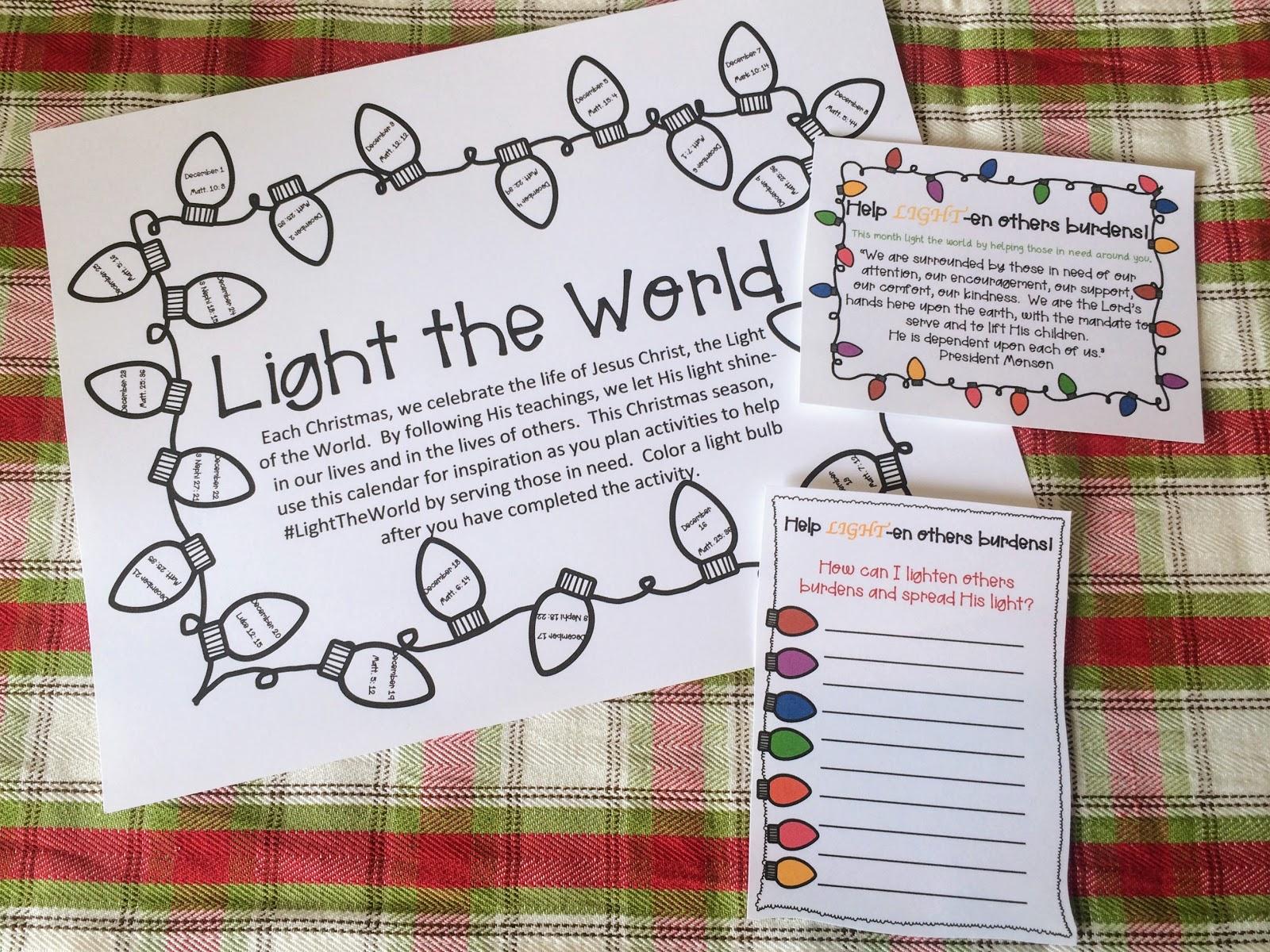 Ruthanne Strong December Visiting Teaching Handout Ideas
