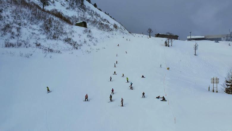中階者的滑雪道,自己還沒有能力嘗試啊