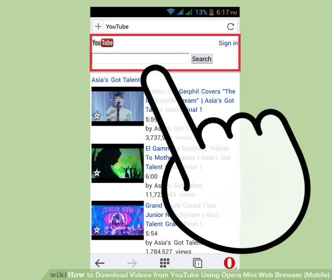 how to download videos from opera mini android