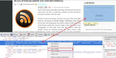 cara copy kode html script dari hasil inspect element