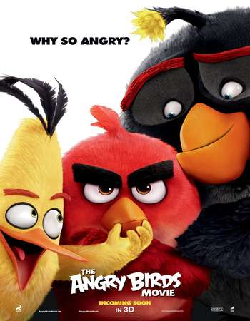 Poster Of The Angry Birds Movie 2016 Dual Audio 720p HDTC [Hindi - English]Free Download Watch Online Worldfree4u
