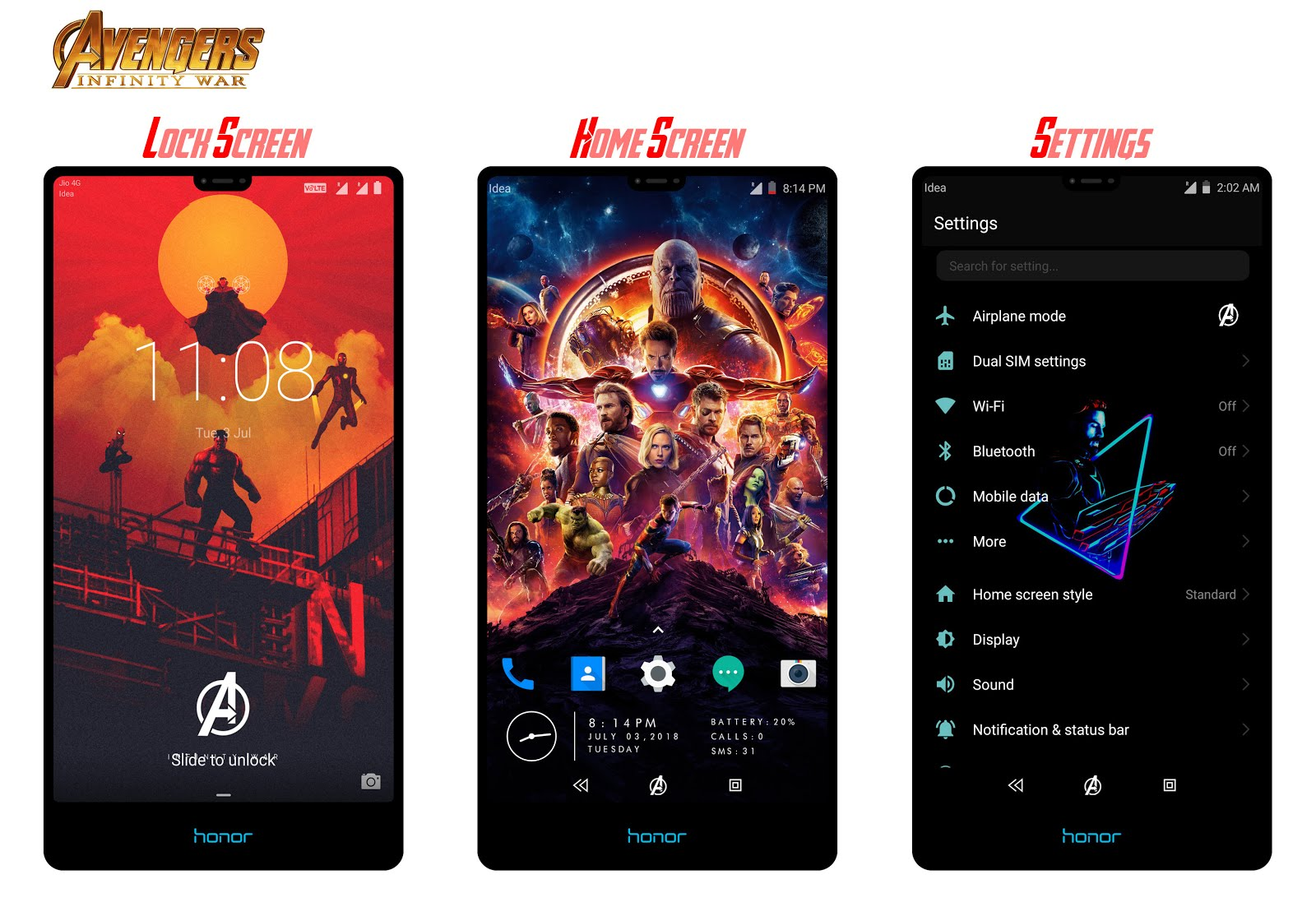 One Plus 6 Avengers Infinity War Mixed Edition for EMUI 5/8 - Emui