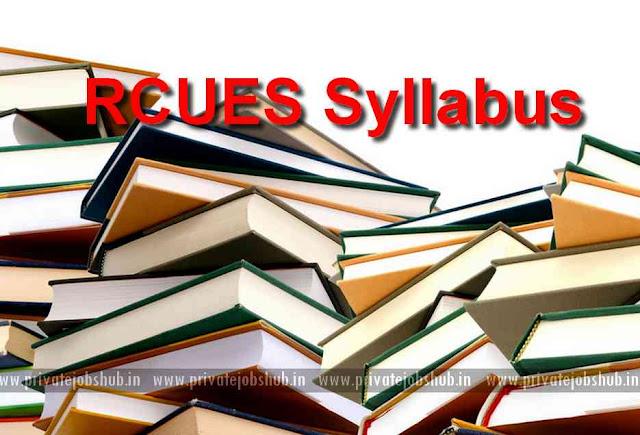RCUES Syllabus